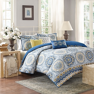 Bungalow Rose Rabat 6 Piece 2-in-1 Duvet Set; Full/Queen