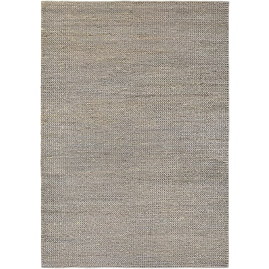 Bungalow Rose Uhlig Hand-Woven Gray/Tan Area Rug; 3'5'' x 5'5''