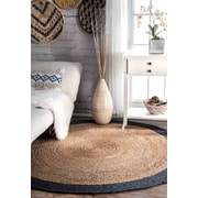 Bungalow Rose Singh Blue/Brown Area Rug; Round 6'