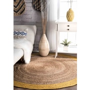 Bungalow Rose Sinha Gold/Beige Area Rug; Round 6'