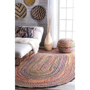 Bungalow Rose Sumitra Multicolor Area Rug; Oval 7' x 9'