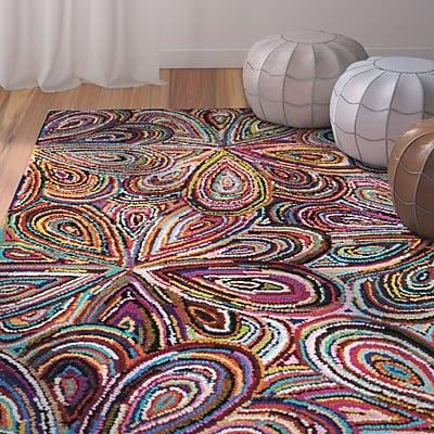 Bungalow Rose Yazmin Hand-Tufted Multi Area Rug; 4' x 6'
