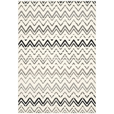 Bungalow Rose Ameesha Cream & Dark Gray Area Rug; 4' x 6'