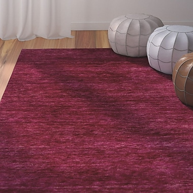 Bungalow Rose Nondoue Magenta Area Rug; 2' x 3'