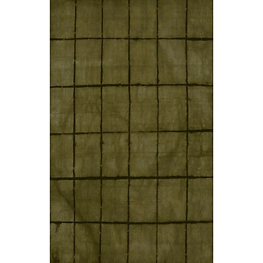 Bungalow Rose Steinsel Hand-Loomed Green/Black Area Rug; 2' x 3'