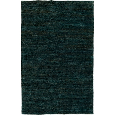 Bungalow Rose Nondoue Hand-Knotted Dark Green Area Rug; 8' x 10'