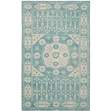 Bungalow Rose Hawke Blue Floral Plant Rug; 9' x 12'
