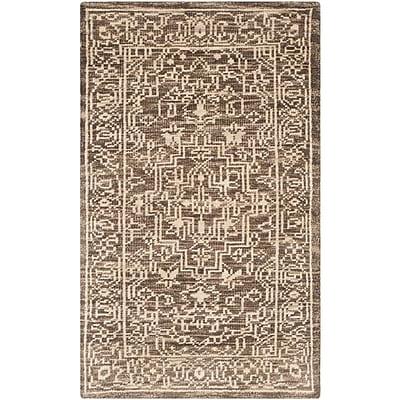 Bungalow Rose Hawke Brown / Beige Oriental Rug; 4' x 6'