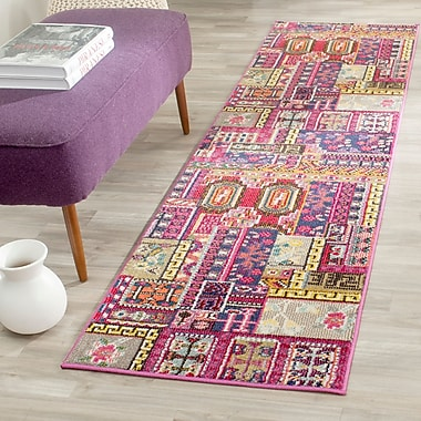 Bungalow Rose Chana Pink Area Rug; Runner 2'2'' x 8'