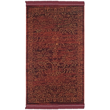 Bungalow Rose Zennia Ruby / Gold Area Rug; 3'3'' x 5'3''