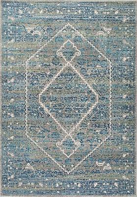 Bungalow Rose Argana Blue Area Rug; 5' x 7'5''