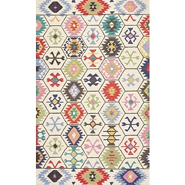 Bungalow Rose Toubqal Hand-Tufted Beige Area Rug; Runner 2'6'' x 8'
