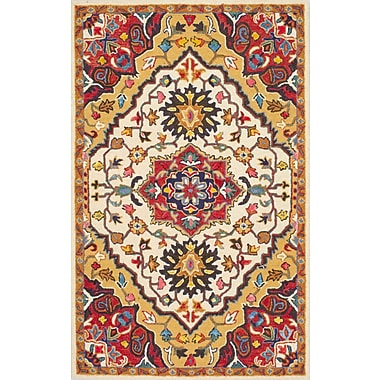 Bungalow Rose Sahab Hand-Tufted Red Area Rug; 8'6'' x 11'6''