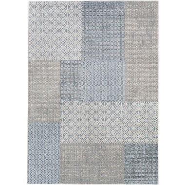 Bungalow Rose Shenk White/Gray Area Rug; 2' x 3'