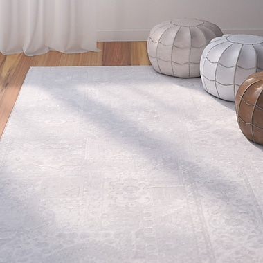 Bungalow Rose Shenk Gray/Neutral Area Rug; 3'11'' x 5'7''