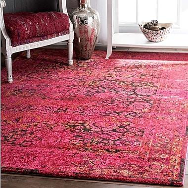Bungalow Rose Varun Shuler Cherry Pink Area Rug; 7'10'' x 11'