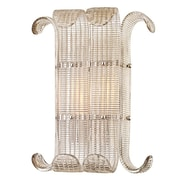 Bungalow Rose Vijay 2-Light Wall Sconce; Polished Nickel