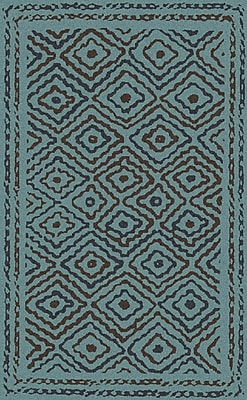 Bungalow Rose Sala Teal Area Rug; 8' x 11'