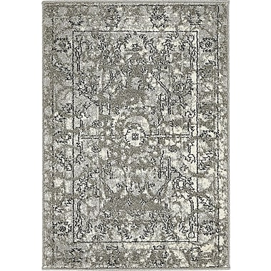Bungalow Rose Fasano Gray Area Rug; Round 6'