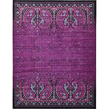 Bungalow Rose Yareli Lilac/Black Area Rug; 13' x 19'8''
