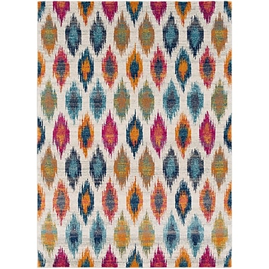 Bungalow Rose Youcef Blue/Pink Area Rug; 2' x 3'