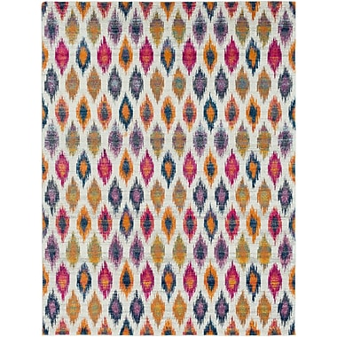 Bungalow Rose Youcef Blue/Pink Area Rug; 7'10'' x 10'3''