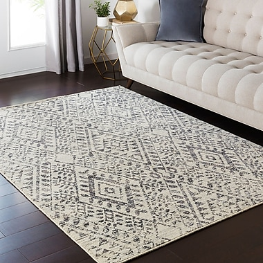 Bungalow Rose Puran Brown/Cream Area Rug; 1'10'' x 2'11''