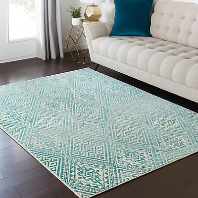 Bungalow Rose Puran Teal Area Rug; 1'10'' x 2'11'' WYF078281560466