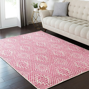 Bungalow Rose Puran Pink Area Rug; 1'10'' x 2'11''