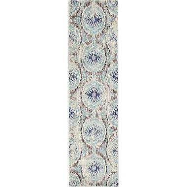 Bungalow Rose Alstrom Blue Area Rug; Runner 2'7'' x 10'