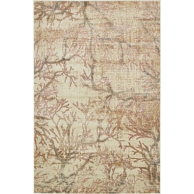 Bungalow Rose Sepe Dark Beige Area Rug; 6' x 9'