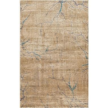 World Menagerie Essex Light Brown Area Rug; 5' x 8'