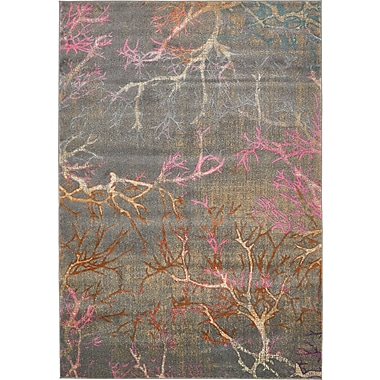 Bungalow Rose Sepe Gray Area Rug; 7' x 10'