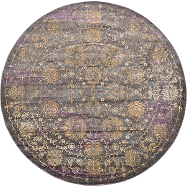 Bungalow Rose Sepe Gray Area Rug; Round 6'