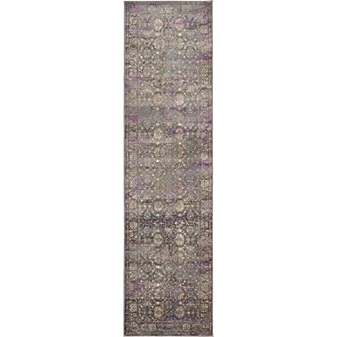 Bungalow Rose Sepe Gray Area Rug; Runner 2'7'' x 10'