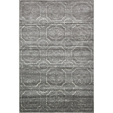 World Menagerie Essex Dark Gray Area Rug; 6' x 9'