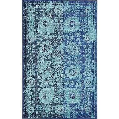 Bungalow Rose Yannis Blue Area Rug; 3'3'' x 5'3''