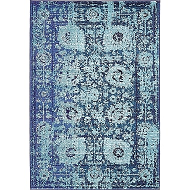 Bungalow Rose Yannis Blue Area Rug; 4' x 6'
