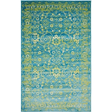 Bungalow Rose Yareli Turquoise/Green Area Rug; 5' x 8'