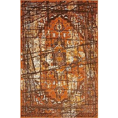 Bungalow Rose Yareli Brown/Terracotta Area Rug; 4' x 6'