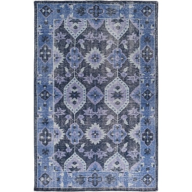 Bungalow Rose Drachten Hand-Knotted Navy/Dark Blue Area Rug; 3'6'' x 5'6''