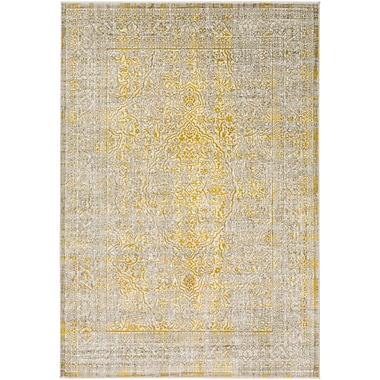 Bungalow Rose Annin Mustard/Taupe Area Rug; 5'2'' x 7'6''