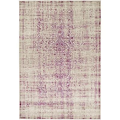 Bungalow Rose Anil Light Gray/Purple Area Rug; 7'6'' x 10'6''