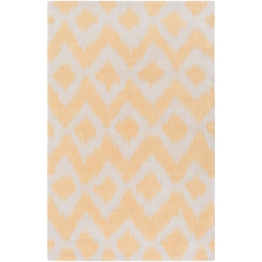 Bungalow Rose Arbuckle Hand-Tufted Butter/White Area Rug; 2' x 3'