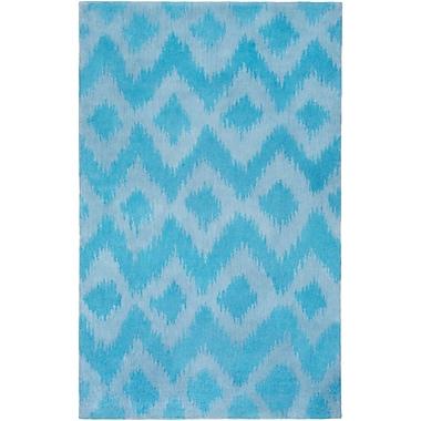 Bungalow Rose Arbuckle Hand-Tufted Sky Blue/Sky Blue Area Rug; 2' x 3'