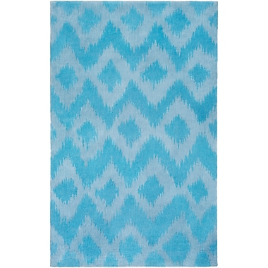 Bungalow Rose Arbuckle Hand-Tufted Sky Blue/Sky Blue Area Rug; 3' x 5'