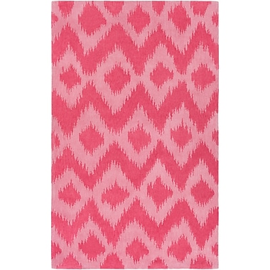 Bungalow Rose Arbuckle Hand-Tufted Coral/Pale Pink Area Rug; 5' x 7'6''