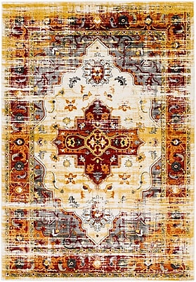 Bungalow Rose Koh Charcoal/Red Area Rug; 7'11'' x 10'