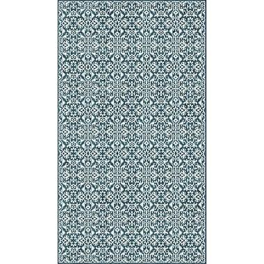 Bungalow Rose McClusky Turquoise/Cream Area Rug; 4' x 6'