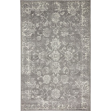 Bungalow Rose Akerlund Dark Gray Area Rug; 5' x 8'
